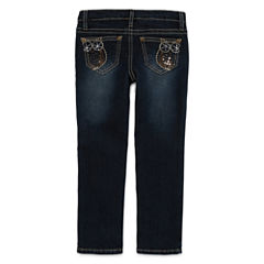 Arizona Embroidered Owl Back-Pocket Jeans - Toddler Girls 2t-5t