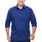 Claiborne® Long-Sleeve Woven Cotton Shirt - Big & Tall