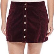 Arizona Corduroy Button-Front Skirt - Juniors Plus