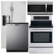 LG Side-by-Side Kitchen Package- Stainless Steel