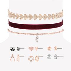 Decree Womens 9-pc. Clear Jewelry Set