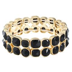 Monet Jewelry Womens Black Stretch Bracelet