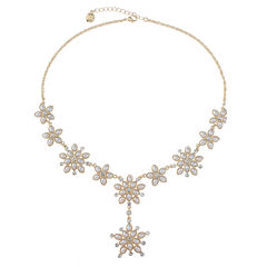 Monet Jewelry Womens White Y Necklace