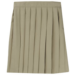 French Toast Pleated Skirt Solid Woven Pleated Skirt - Big Kid Girls