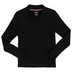 French Toast Long Sleeve Polo Shirt - Preschool Girls