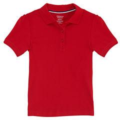 French Toast Short Sleeve Stretch Pique Polo Short Sleeve Polo Shirt - Big Kid Girls
