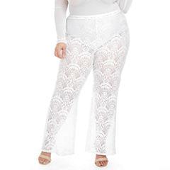 Fashion To Figure Island Lace Palazzo Pants-Plus