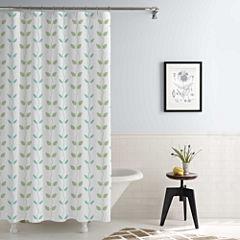 Pacific Coast Textiles Waterproof Organic Vines Printed Shower Curtain