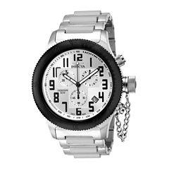 Invicta® Mens Silver-Tone Chronograph Russian Diver Watch 15558