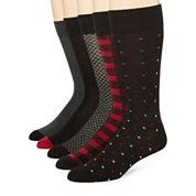 Stafford® Mens 5-pk. Cotton-Rich Crew Socks