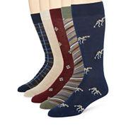 Stafford® 5-pk. Pointer Dog Crew Socks