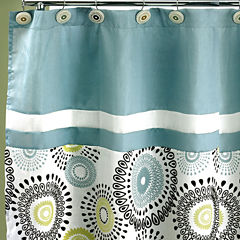 Suzanni Aqua Shower Curtain