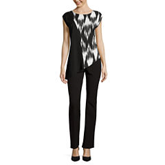Worthington® Sleeveless Asymmetrical Blouse or Straight-Leg Pants