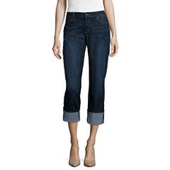 Liz Claiborne® Boyfriend Fit Straight-Leg Jeans