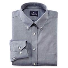 Stafford® Executive Non-Iron Cotton Pinpoint Oxford–Big & Tall