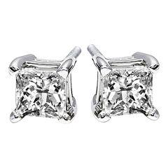 1/4 CT. T.W. Princess-Cut Diamond Stud Earrings