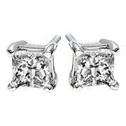 1 CT. T.W. Princess-Cut Diamond Stud Earrings