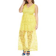 Fashion To Figure Anabela Lace Maxi Dress-Plus