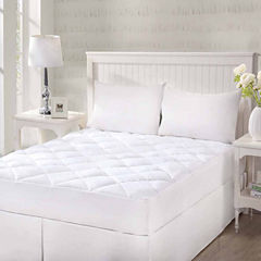 Queen Street Cotton Top With Stretch Skirt Quilted Mattress Pad