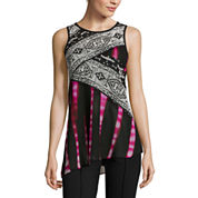 nicole by Nicole Miller® Sleeveless Mix Print Top