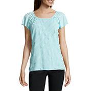 Alyx® Short-Sleeve Ruffle Knit Top
