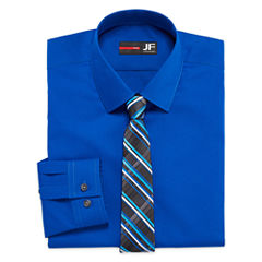 JF J. Ferrar® Long-Sleeve Easy-Care Dress Shirt and Tie Set