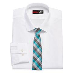 JF J. Ferrar® Long-Sleeve Easy-Care Dress Shirt and Tie Set