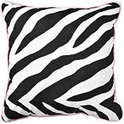 Sassy Zebra Reversible Square Decorative Pillow