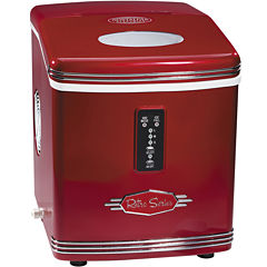 Nostalgia RIC100 Retro Series 26-Pound Automatic Ice Maker