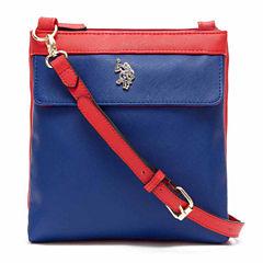 Us Polo Assn. Jenna Double Entry Crossbody Bag