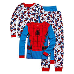 4 PC Pajama Spiderman- Boys Big Kid