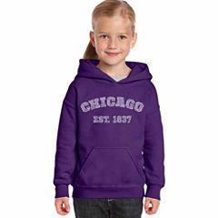 Los Angeles Pop Art Chicago 1837 Long Sleeve Sweatshirt Girls
