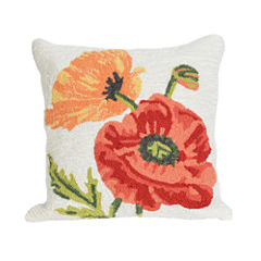 Liora Manne Frontporch Icelandic Poppies Square Outdoor Pillow