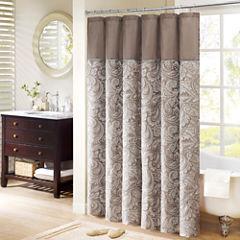 Madison Park Whitman Jacquard Shower Curtain