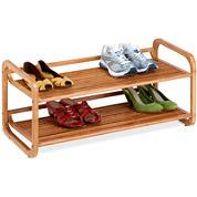 Honey-Can-Do® 2-Tier Bamboo Shoe Rack