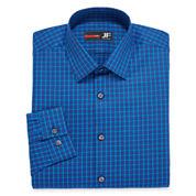 JF J. Ferrar® Long-Sleeve Cotton Stretch Dress Shirt - Slim Fit