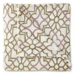JCPenney Home™ Velvet Plush Print Blanket