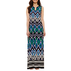 Tiana B Sleeveless Maxi Dress-Petites