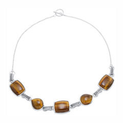 Brown Tiger's Eye Statement Necklace
