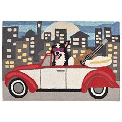 Liora Manne Frontporch City Dog Hand Tufted Rectangular Rugs