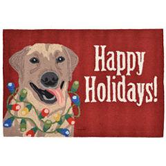 Liora Manne Frontporch Happy Holidays Hand Tufted Rectangular Rugs