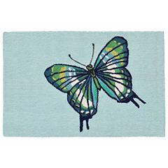 Liora Manne Frontporch Butterfly Hand Tufted Rectangular Rugs
