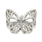 city x city® Cubic Zirconia Butterfly Ring