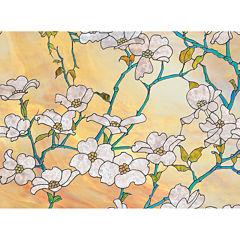Brewster Wall Dogwood Blossom Premium Privacy Window Decal
