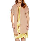 Maya Brooke Short-Sleeve Duster Jacket and Dress - Plus