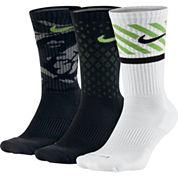 Nike® 3-pk. Dri-FIT Triple Fly Crew Socks