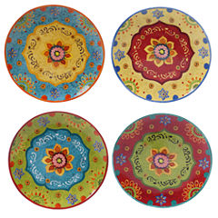 Certified International Tunisian Sunset Set of 4 Dinner Plates