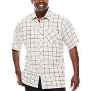 Steve Harvey Short-Sleeve Plaid Shirt - Big & Tall
