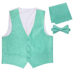 Paisley Vest, Bow Tie and Pocket Square Set
