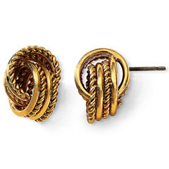 Monet® Gold-Tone Knot Earrings